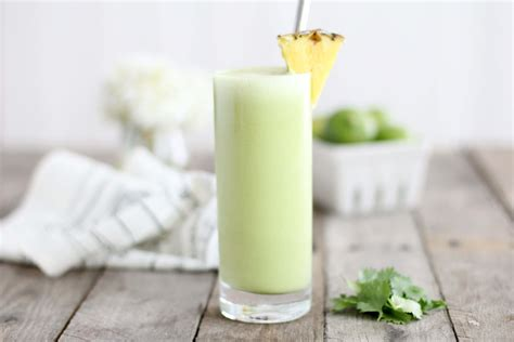 Pineapple Juice Detox Diet by Pineapple Smoothie With Cilantro Recipe Dr Axe