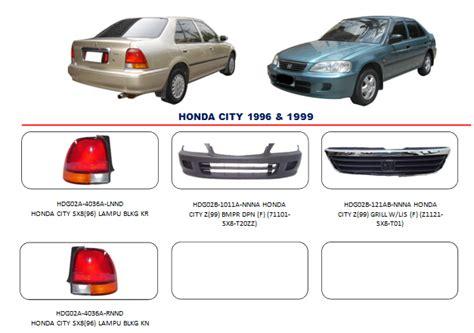 Accu Mobil Honda City bemper honda city 1996 1999 auto part mobil