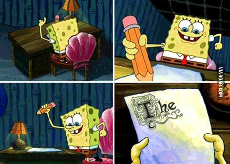 spongebob writing paper college as told by spongebob squarepants