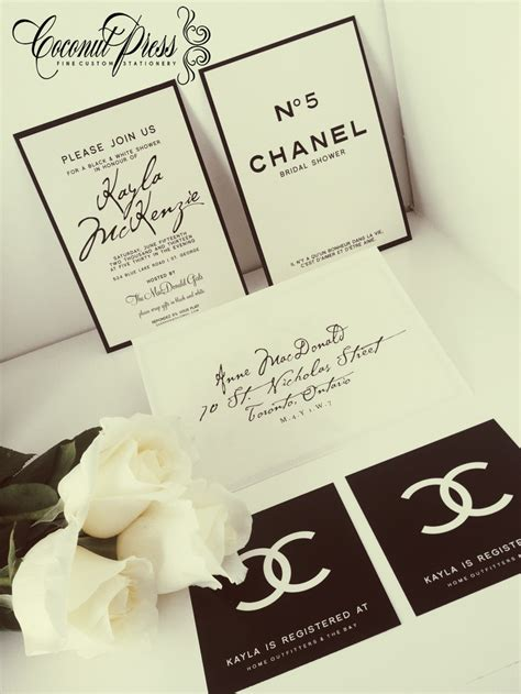 coco chanel wedding invitations 33 best theme chanel images on chanel