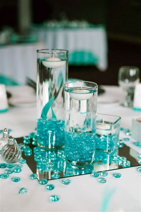 Turquoise Vases For Wedding by 25 Best Turquoise Centerpieces Ideas On