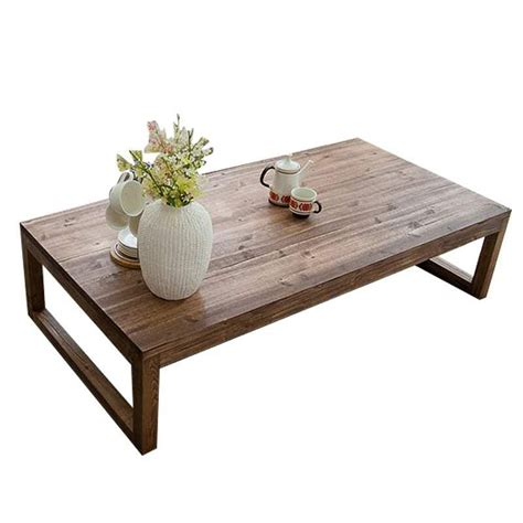 Antique Rustic Vintage Pine Coffee Center Table Wooden Wooden Center Tables Living Room