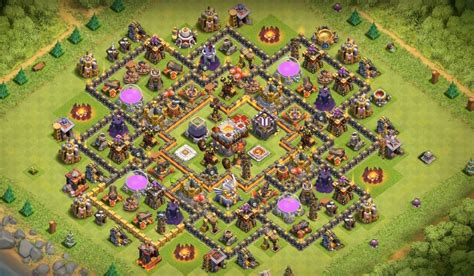 th11 clash of clans best base layouts dark elixir farming base layouts for maxed heroes