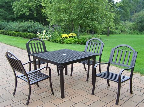 Oakland Living 5 Pc Patio Dining Set W 40x40 Quot Table And High Patio Dining Set