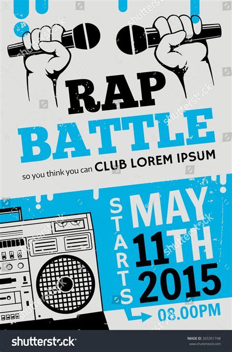 printable rap poster rap battle concert hiphop music vector stock vector