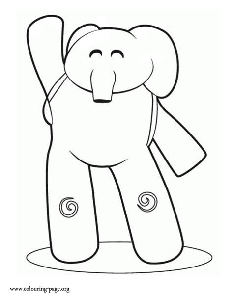 ellie elephant coloring page pocoyo printables coloring home