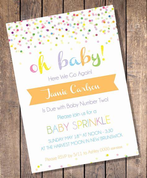 sprinkle invitations templates custom sprinkle baby shower invitation digital print