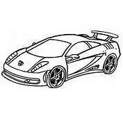 Yarış Arabası Boyama Sayfası