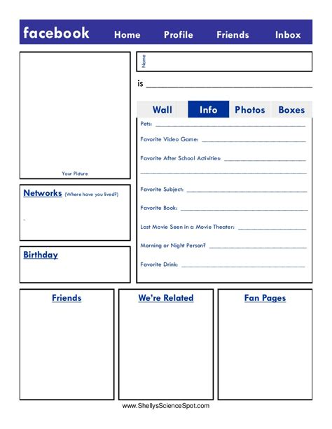 farcebook template blank page
