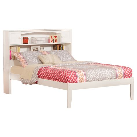 bunk beds with bookcase headboards newport open foot bed platform bookcase headboard dcg