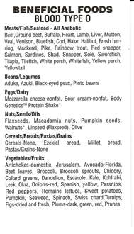 top diet foods blood type o positive diet food list