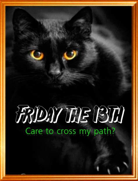 Black Cat On Friday The 13th. Free Friday the 13th eCards