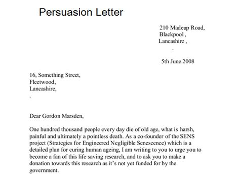 Persuasive Letter Introduction Exle 7 Sle Persuasion Letters Sle Letters Word