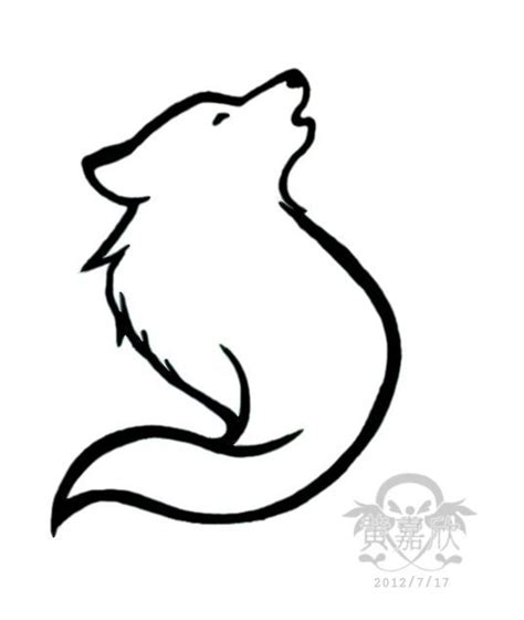 tribal wolf outline www pixshark 31 best wolf outline images on wolf