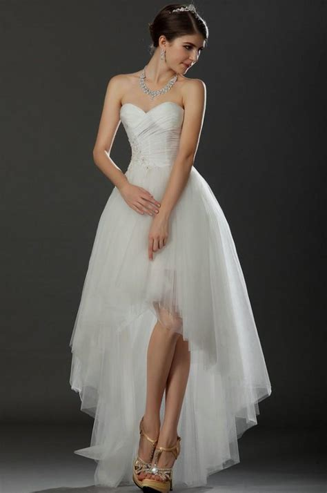 white high low wedding dresses World dresses