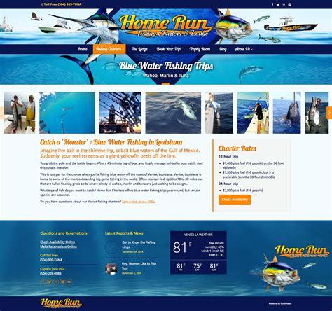 bluewater boats website brand website marketing design for fishing charter