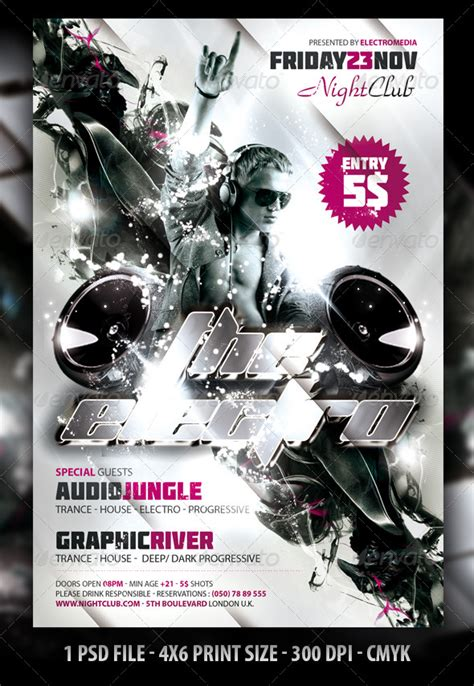 dafont molot electro night club party flyer poster graphicriver