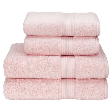pink bathroom towels christy supreme hygro 4 piece hand bath towel bundle