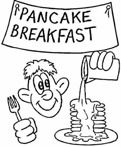 coloring pages breakfast food coloriage petit d 233 jeuner aux pancakes coloriages 224