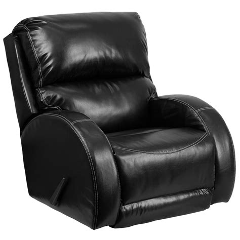 Small Black Leather Recliner Contemporary Ty Black Leather Rocker Recliner