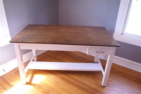einfacher schreibtisch diy a chic and simple desk dwell with dignity the finished