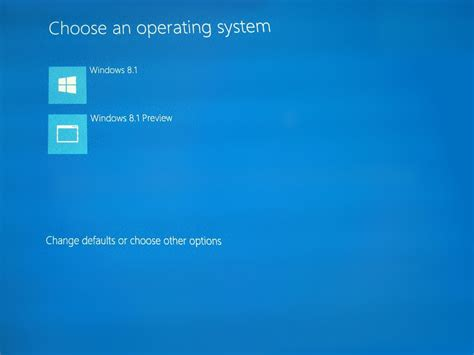 how to choose windows how to remove the choose an operating system windows 8 1