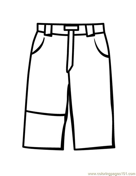 pants coloring page free pants coloring pages