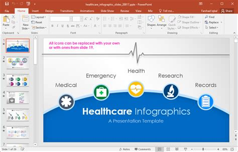 Animated Healthcare Infographics For Powerpoint Healthcare Powerpoint Template
