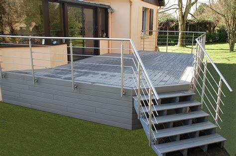 terrasse en bois terrasse l 244 bois et composite fh construction