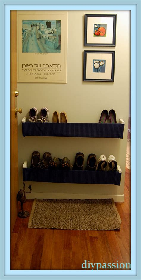 diy hanging shoe rack the evolution of an entryway part 2 diy hanging shoe