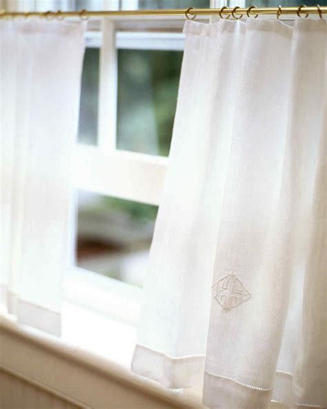 Cafe Curtains For Kitchen Martha Stewart Cafe Curtain Martha Stewart