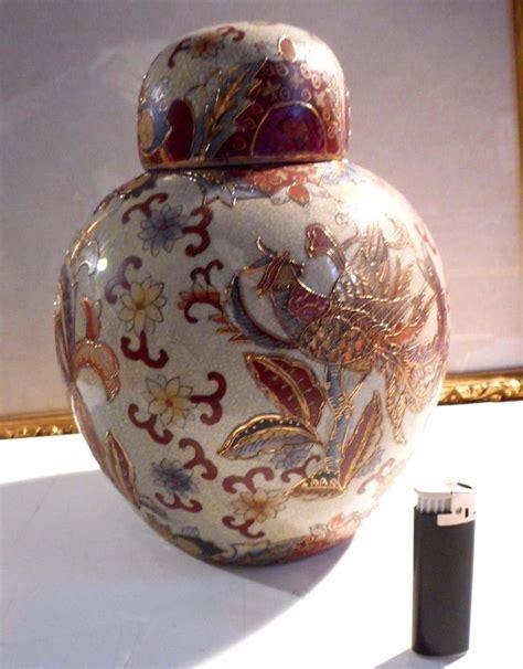 antico vaso antico vaso potiche satsuma in ceramica cinese policromo