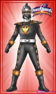 draw black dino ranger step step characters pop culture free drawing