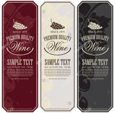 wine label template 26 wine label templates free sle exle format