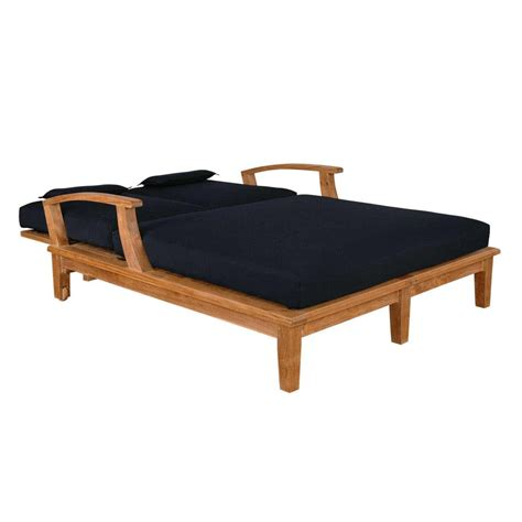 teak double chaise lounge anderson teak sl 209 brianna outdoor double sun chaise