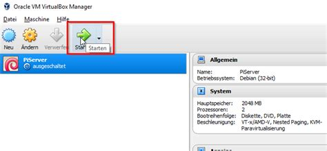 tutorial oracle vm virtualbox manager oracle vm virtualbox manager vm starten raspberry tips