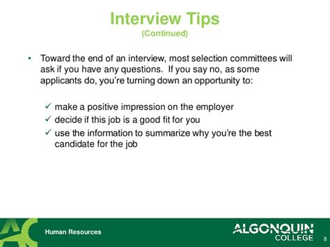 10 tips to be successful in a job interview