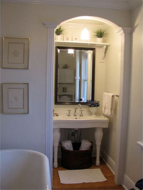 framed bathroom mirrors powder room pinterest mirror shelf above mirror in small bathroom home powder room
