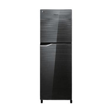 Kulkas Panasonic Glass Door jual panasonic nr bb238g s kulkas 230 l two door
