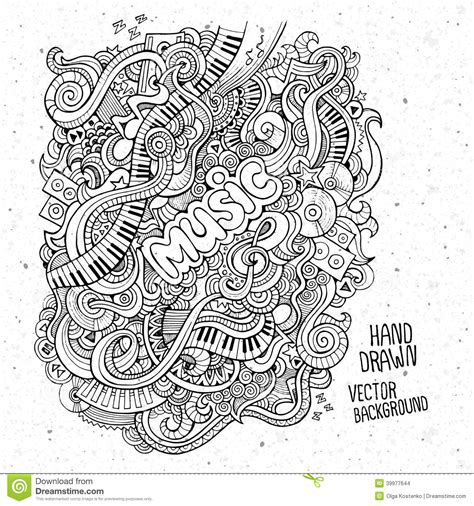 doodle less pool musicas sketchy notebook doodles stock vector image 39977644