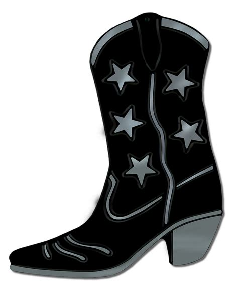 cowboy boots clipart black and white free 5 clipartix
