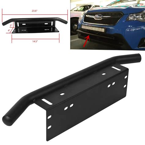 1pc Offroad Light Led Light Bar Front Bumper License Plate Led Light Bar Bumper Mounts