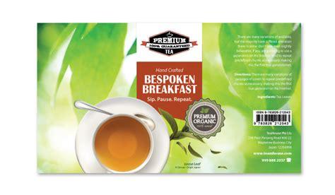 tea label template dlayouts graphic design blog