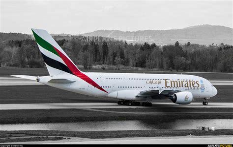 emirates zurich a6 eob emirates airlines airbus a380 at zurich photo