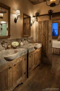 rustic bathrooms designs sliding barn door designs mountainmodernlife