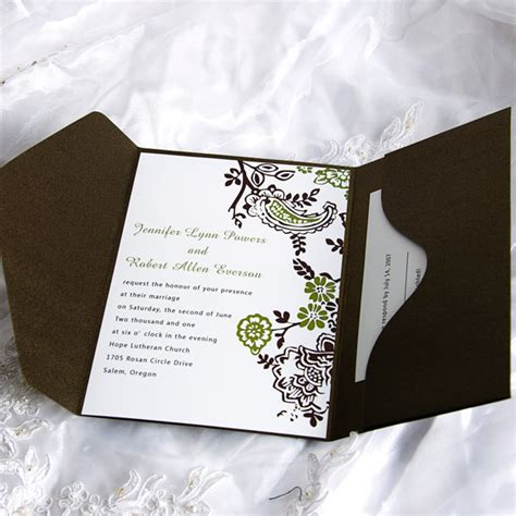 where to get cheap wedding invitations soft floral frame pocket wedding invitation ukps041