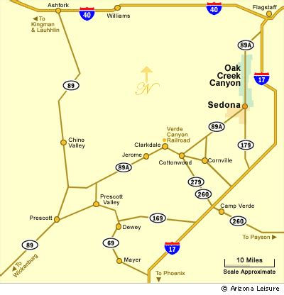 map of arizona and surrounding areas cottonwood arizona