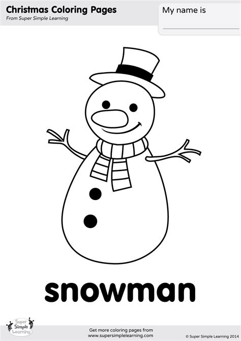 simple snowman coloring page snowman coloring page super simple