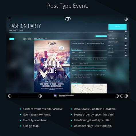 themes wordpress music band vice music band dj and radio wordpress theme wordpress