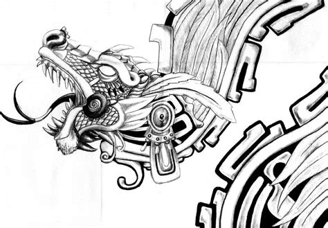 aztec dragon tattoo aztec by headbangerdragon on deviantart meso